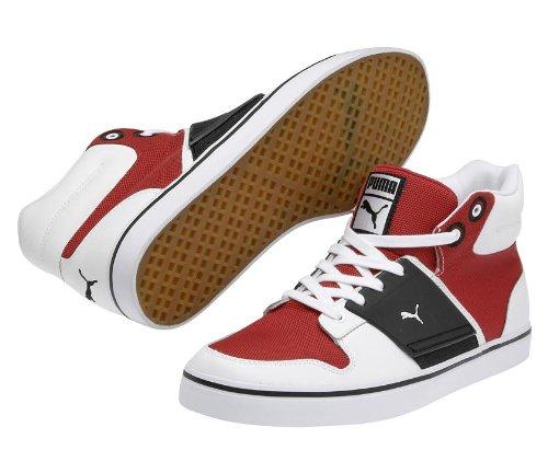 Puma El Ace 2 Mitten Nylon Mens Skor Storlek Vit / Röd / Svart
