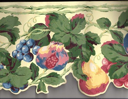 Die Cut Fruit Wallpaper Border - Wallpaper Border Fruit
