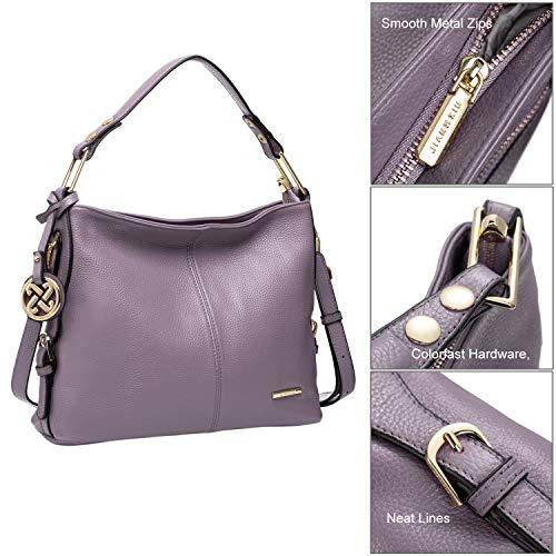 4ef97474ba572d Cooserry Hobo Handbags, Genuine Leather Shoulder Crossbody Zipper Bag with  Pockets for Women, Black
