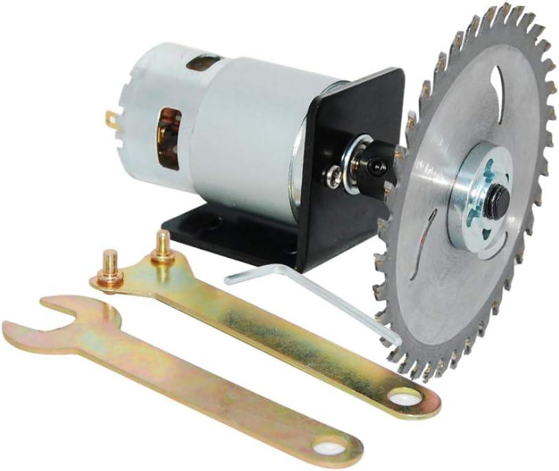 Motor 775 DC 12V/24V Kit de sierra circular de alta potencia con varilla de conexión de hoja de sierra y hoja de sierra circular