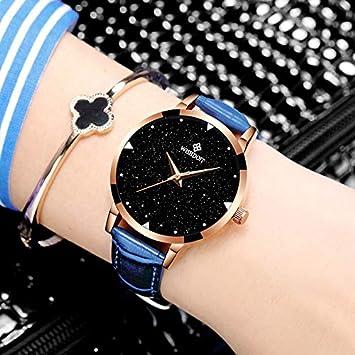 WZFCSAEAE Correa de Cuero Relojes Pulseras Reloj de Cuarzo Relojes de Pulsera para Mujer Relojes Vestidos