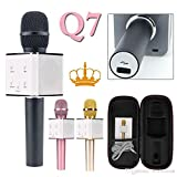 Finicky World Q7 Karaoke Handheld Wireless Microphone With Bluetooth Speaker For All Ios/Android Smartphones