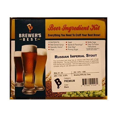 Brewer's Best BIK-1046 Russian Imperial Stout Homebrew Beer Ingredient (Stout Ingredient Kit)