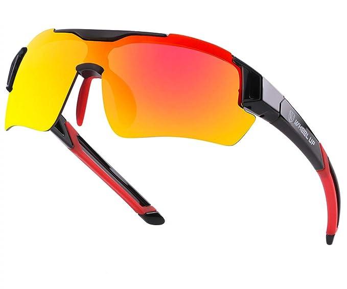 4b46d20dcbc9 Polarized Sport Sunglasses for Cycling Non-Slip Frame UV400 Protection