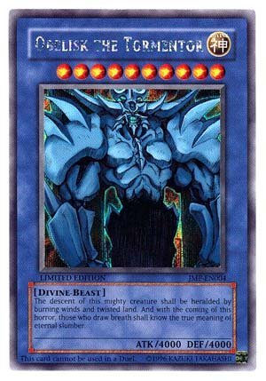 Yu-gi-oh Limited Edition English God Card - Obelisk the Tormentor - Jmp-en004 by YuGiOh Trading Cards