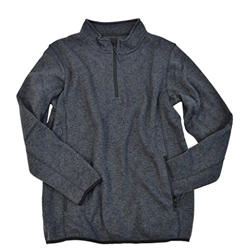 f-x-fusion-403-mens-pullover-sweater-with-3-4-zip-charcoal-l