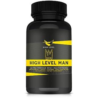High Level Man Ultra Premium Multivitamin   Real Whole Food Blend    KSM-66®, CoQ10, Lycopene  