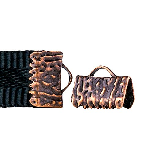 Twilight's Fancy 16 pieces Artisan Series Ribbon Clamps End Crimps (10mm (3/8