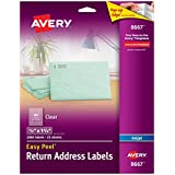 Avery Easy Peel Return Address Labels for Inkjet Printers, 0.5 x 1.75 Inches, Clear, Pack of 2000  (8667)