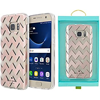 Kate Spade New York Hardshell Clear for Samsung Galaxy S7 - Chevron Rose Gold  Foil /