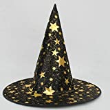 Halloween costumes props,ZIYUO-Toys Adult Womens Mens Witch Hat For Halloween Costume Accessory Stars Print Cap A