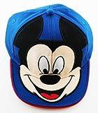 Disney Big Boys' Kids Mickey Big Face Cap, Blue, One Size