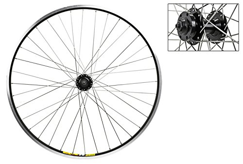 Wheel Master 700c Front Wheel - Quick-Release, 36H, Black - Axle Brake Front Disc