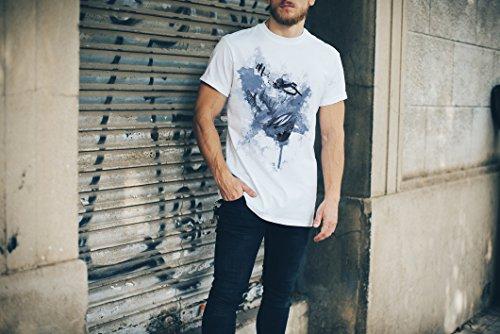 Breaking Bad Jesse Herren T- Shirt , Stylisch aus Paul Sinus Aquarell Cyan