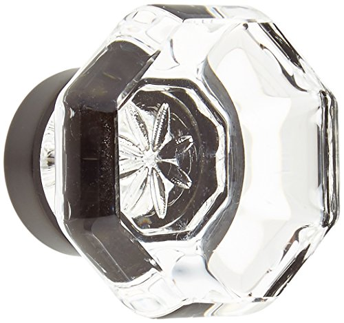 Emtek Products Crystal Knob - Emtek 86011US10B Old Town Clear 1.25-Inch Cab Knob