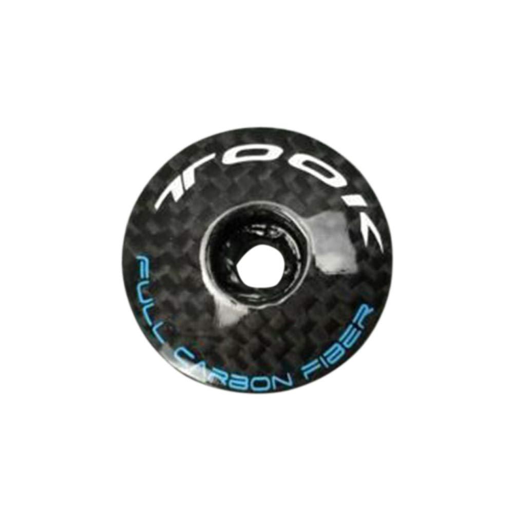 ZqiroLt Bici Top cap MTB Mountain Road Bicicletta Headset Cover Bolt 3K Fibra di Carbonio