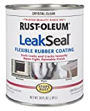 stop roof leak - Rust-Oleum 275116 Stop Rust Leak Seal Flexible Rubber Coating Sealant, Crystal Clear