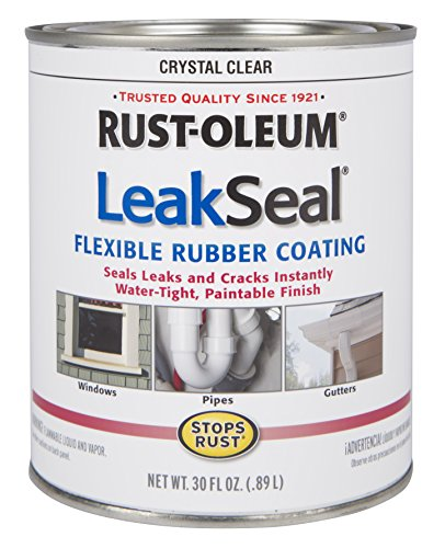 Rust-Oleum 275116 Stop Rust Leak Seal Flexible Rubber Coating Sealant, Crystal Clear