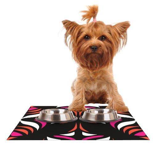 KESS InHouse Miranda MOL Magenta Orange Hawaiian Retro Feeding Mat for Pet Bowl, 24 by - Dog Retro Placemat