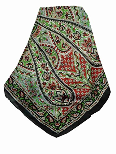 Foulard Gamme Traditional de Soie Motif Celisa Black de Pashmina & Silk