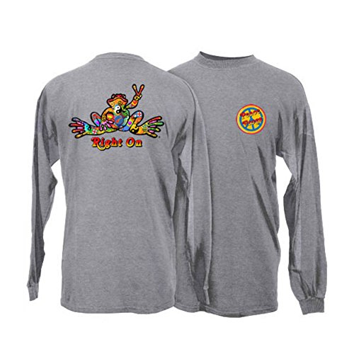 peace-frogs-adult-sport-grey-button-long-sleeve-t-shirt