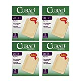 Curad Sheer 10 Large Sterile Adhesive Pads 3 X 4 in - (4 Boxes)