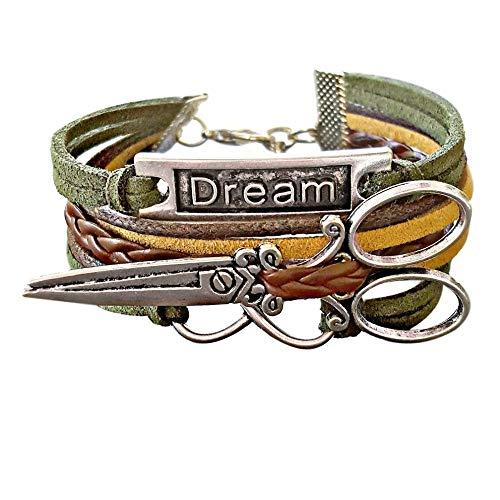 cissor Bracelet for Hairstylists, Dream Jewelry for Women, Infinity Bracelet ()