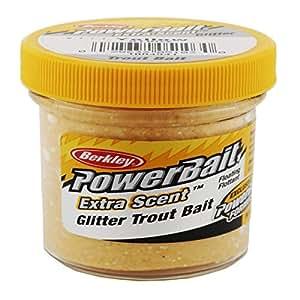 Berkley STBGY Glitter Trout Bait, Yellow, 1.75-Ounce Jar