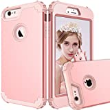 Maxcury iPhone 6 Plus Case iPhone 6s Plus Case, Hybrid Heavy Duty Shockproof Full-Body Protective Case with Three Layer Impact Protection for Apple iPhone 6s Plus 5.5 inch - Rose Gold
