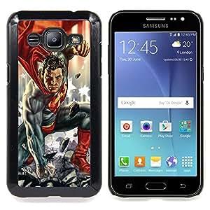 FOR Samsung Galaxy J2 Queen Pattern - Superhero Man Children'S Character Comics - Doble capa de armadura de la cubierta del caso del protector -