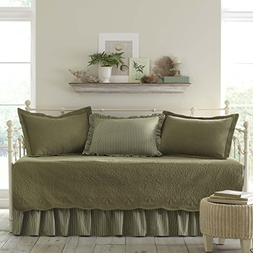 Stone Cottage Trellis 5-Piece Daybed Set, Aloe (Daybeds Sets Bedding)