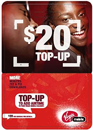 Virgin Mobile $20 Top-Up Card: Amazon ca: Cell Phones & Accessories