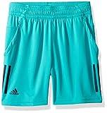 adidas Tennis 3 Stripes Club Shorts, Hi-Res Aqua, Small