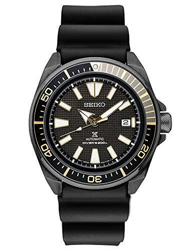 (Seiko SRPB55 Mens Black Ion Prospex Automatic Dive Watch)