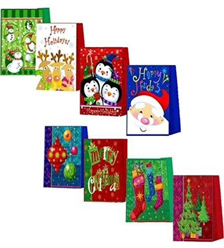 Christmas Gift Bags, Assorted Styles, 16-Count by B.N.D