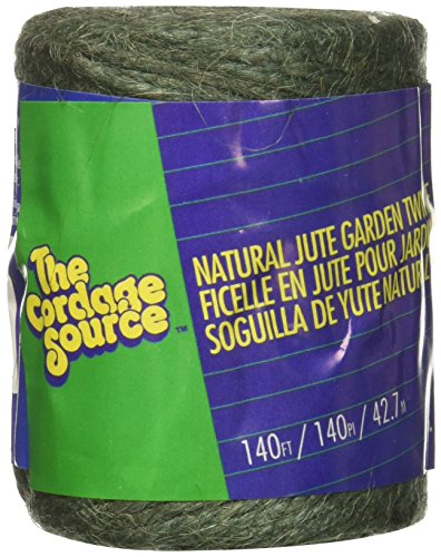 CORDAGE SOURCE 1006G Jute Twine, 140-Feet, Green - Cordage Source Poly Twine