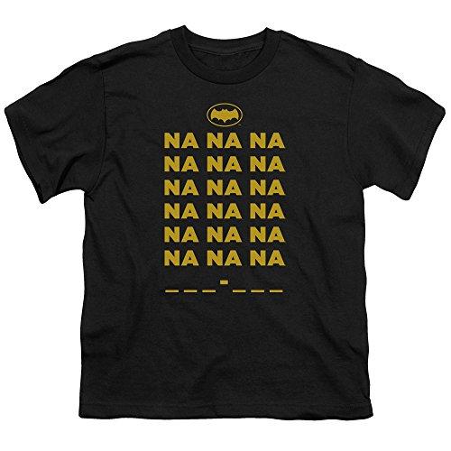 Batman Classic Tv Na Na Na Unisex Youth T Shirt for Boys and Girls, Small Black (Na Na Na Na Batman T Shirt)