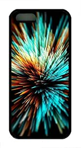Bright Fireworks TPU Silicone Case Cover for iPhone 5/5S Black by mcsharks