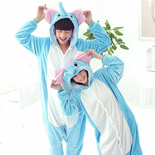 Ispessimento Animale Di Usura Svago Costume Inverno Pigiami elefante Cosplay Piece One l Adult Unisex Sed Peluche 47gv88