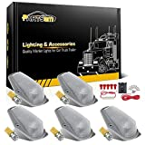 1996 f250 cab lights - Partsam 5x Cab Marker Light Roof Clearance Light 15442 Clear Lens Amber 3528 SMD T10 194 LED Bulb+ Wiring Pack Switch For 1980-1997 Ford F-150 F-250 F-350 F Super Duty