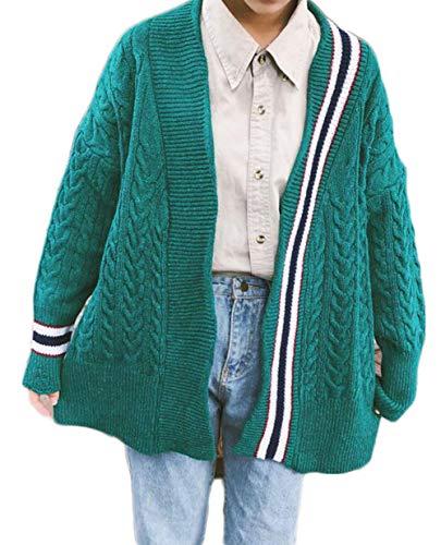 Gergeousニット カーディガン レディース 長袖 ゆったり アウター ニットセーター かわいい 原宿風 ケーブル編み かわいい アウター