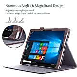 ProCase New Surface Pro Case 2017 / Surface Pro 4 Case - Premium Folio Cover Case for New Microsoft Surface Pro 2017 / Pro 4, Compatible with Type Cover Keyboard -Brown
