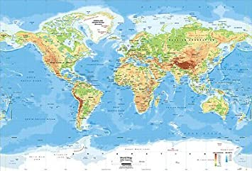Amazon pop home store wall the world map poster pop home store wall the world map poster printingwallpaper 20x30 inch gumiabroncs Gallery