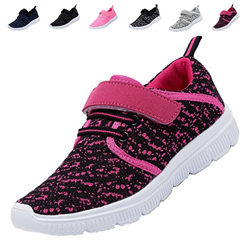 adituo Kids Lightweight Sneakers Boys and Girls Cute Casual Sport Shoes(Toddler/Little Kid/Big Kid) rosered34