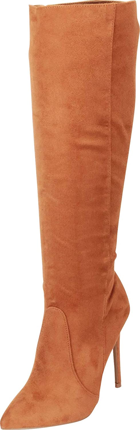 Chestnut Imsu Cambridge Select Women's Pointed Toe Stiletto High Heel Knee-High Boot