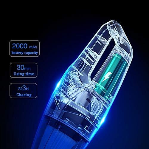 Aspirateur sans Fil, 5000PA Aspirateur de Voiture Portable avec Fonction Huimide et Sèche et Filtre HEPA Lavable, 2000mAh jusqu\'à 30 Minutes pour Maison,Table, Bureau