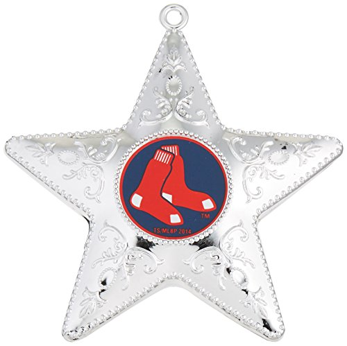 (MLB Boston Red Sox Silver Star Ornament, 2-Pack)