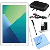 Samsung Galaxy Tab A 10.1 Tablet PC White w/ S Pen Bundle includes Tablet, Microfiber Cloth, Cleaning Kit, Stylus Pen with Clip, Protective Neoprene Sleeve and Metal Ear Buds