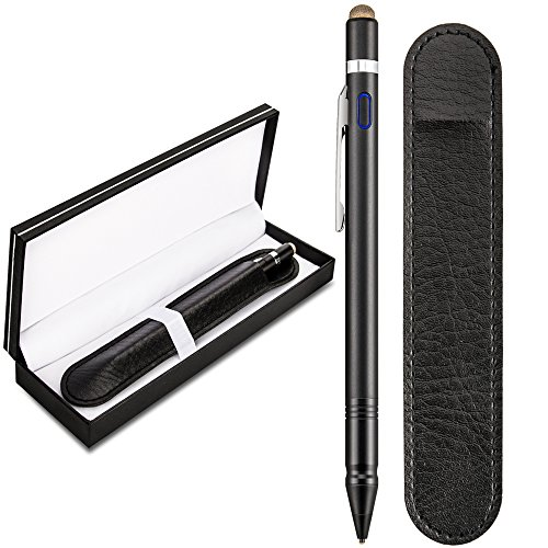 Qoosea [2 in 1] Stylus Pen for Touch Screen Active Capacitive Rechargeable Digital Fine Point Stylus Pen For iPad / iPhone / Samsung Galaxy Phone / Kindle / Fire HD & Android Tablets