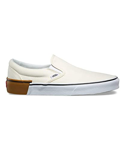 9ae3e4a450 Amazon.com  Vans Classic Slip On Gum Block Classic White Men s Skate ...